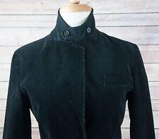 J CREW Single Leather Button Black Corduroy Fitted Blazer Riding Jacket Sz 4