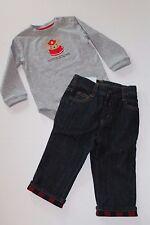Gymboree Snow Cozy Fireman Bodysuit Top & Jeans Outfit Baby Boy 12-18 Months NEW
