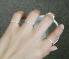 6.5# 925 solid sterling silver ring above knuckle simple circle ring new gift