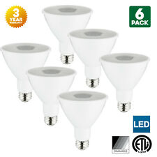 6-Pack Sunlite LED PAR30 Long Neck Bulbs, 5000K, Dimmable, 10W, Medium Base