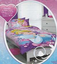 Cinderella Quilt Doona Duvet Cover Set Disney Princess Bedding Girls Toy Kids Single