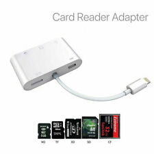 More details for  8pin to m2 sd xd cf tf 5in1 card reader adapter for iphone ipad ios12