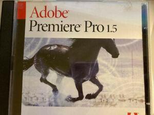 Adobe Premiere Pro 1.5  Windows XP Disk and samples in original case