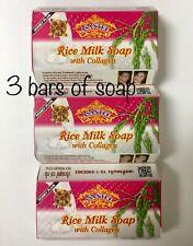 Asantee Rice Milk With Collagen 3 Pk Honey Plus Herbal Lightening Soap