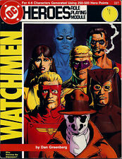 DC HEROES RPG MODULE*WATCHMEN*WHO WATCHES THE WATCHMEN (227)*RARE*OUT OF PRINT