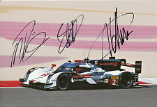 Lotterer, Treluyer, Fässler Audi Joest Hand Signed Photo 12x8 Le Mans 6.