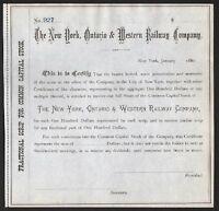 1880 New York: The New York, Ontario & Western Railway Company