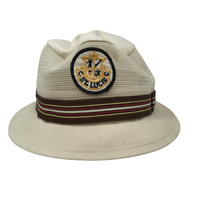 Vintage Texace St. Lucie Vented Bucket Hat Beige Fitted Size 7 1/8 Made in USA