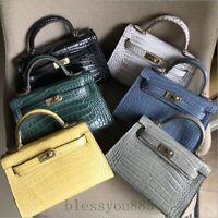 19CM Women Fashion Genuine Leather Mini Shoulder Bag Messager Bag Crossbody Bag