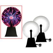 2x Plasma Ball Touch Sensitive Lampe Sound Aktiviertes Glaskugel Party Licht  8