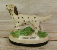 Vintage Jasco Bisque Porcelain Brown & White English Setter Pointing Dog Hunting
