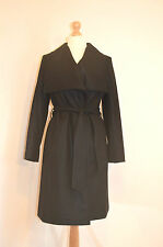 LADIES TED BAKER DANITA BLACK WRAP WOOL CASHMERE COAT& BELT UK6 /0 RRP £299