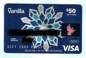 VANILLA Paper Snowflake 2020 Debit Card ( $0 - NO VALUE )