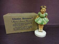 Sebastian Miniatures Sidewalk Days Rollerskate Girl with Original Box 1978