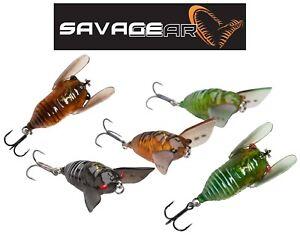 SAVAGE GEAR 3D Cicada Surface Topwater Fishing Lure Chub Bass Predator Tackle UK