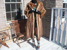 Full length Stone Marten Sable Fur coat jacket S-M+ hat