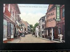 CANADA~1900's QUEBEC ~ Main Street  ~ St. Anne de Beaupre ~ ROYAL MUSEUM
