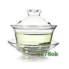New style Gongfu Tea Clear Glass Gaiwan Traditional 150ml 5oz tea set *ON SALE*