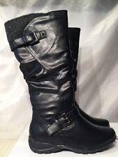 f42281f1501b Lotus Block Heel Knee-High Boots for Women