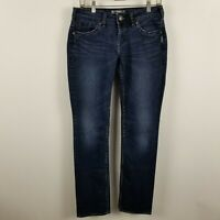 Silver Aiko Baby Boot Cut Womens Dark Wash Blue Jeans Size 27x33