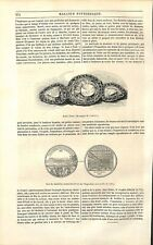 Londres Exposition universelle Bijoux Diamants Koh-in-Noor Médaille GRAVURE 1851
