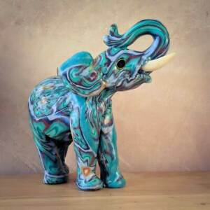 Elephant candles - fair trade handmade Swazi candles - Ivory anniversary gift