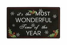 """28"""" x 17"""" Christmas Holiday The Most Wonderful Time Greeting Welcome Doormat"""