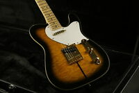Tuff Dog TL Electric Guitar Quilted Maple Top Gold Hardware Maple Neck Sunburst