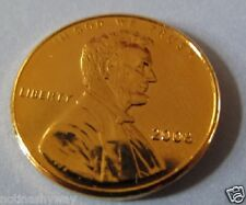 US Gold Cent Abraham Lincoln Coin United States America Man New York City Retro