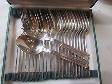 ancien 12 fourchettes 12 cuilleres metal argenté poinconné art deco ecrin