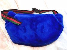 Faux Fur Pockets Belt Bag / Fanny Pack or Travel Shoulder Bag