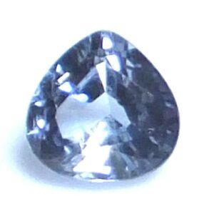 AAA NATURAL Blue Sapphire 5 x 4.9 mm.UnHeated Pear Cut AMAZING CEYLON GEMSTONE
