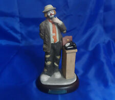 Emmett Kelly Jr Collection Executive Clown Figurine from Flambro w/ Wood Stand