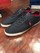 Polo Ralph Lauren Hanford Pique Nylon Shoes Sneakers New Size 11 Men's Navy
