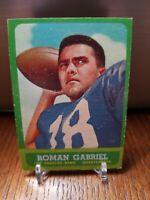 1963 TOPPS FOOTBALL #37 ROMAN GABRIEL LOS ANGELES RAMS Nice Card!