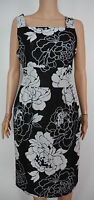 New Phase Eight size 10 Black Grey floral Rose Print Shift Party Dress