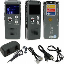 8GB USB Digital Audio Voice Recorder Dictaphone MP3 Player Black SP2G Up to 650h