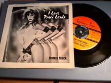 Ronnie Mack ~ I Love Traci Lord ~ Lonesome Town Records USA Import Pic Sleeve Nm