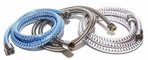 Duschschlauch 150cm 1,5m 200cm 2m Spiral Brauseschlauch Dusche Silber oder Blau