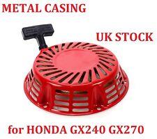 Comienzo del tirón Arrancador de Retroceso Honda GX240 GX270 todoterreno Arranque Carcasa De Metal