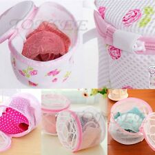 Laundry Saver Washing Machine Aid Bra Lingerie Mesh Wash Basket Bag Pink
