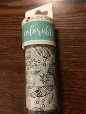 """American Crafts 4"""" x 60"""" Colorable Washi Tape Roll - Customizable Adhesive Pack"""