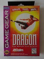 DRAGON THE BRUCE LEE STORY Sega Game GEAR BNISW DAY U PAY IT SHIPS FREE