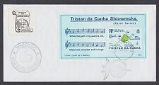 Tristan da Cunha Sc 415 FDC, 1987 70p Map of Shipwrecks souvenir sheet