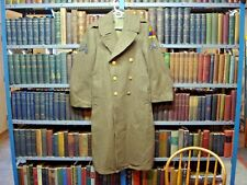 Vintage Wwii Era Army 2nd Armored Div Hell On Wheels Long Wool Trench Coat 36 R