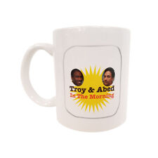 Troy And Abed In The Morning Coffee Mug Community TV Show Talk White Cup & Gift