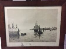 ORIGINAL PENCIL ETCHING SIGNED BY ARTIST H.G. FULLER ~ EARLY 1900'S
