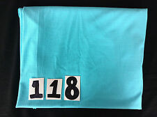 Turquoise Lycra fabric remnant (4-way stretch) with small checked texture  (118)