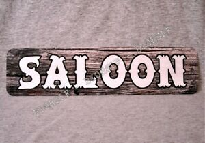 Metal Sign SALOON western bar pub old west bartender beer liquor watering hole