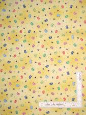 Sew Thread Pin Cushion Notions Yellow Cotton Fabric Follies QT - By The Yard